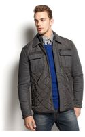 Michael Kors Quilted Mixed Media Jacket - Lyst