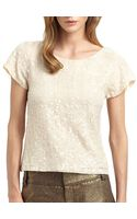 Alice + Olivia Winnie Sequined Top - Lyst