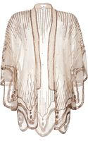 Anna Sui Sequin Embroidered Scalloped Kimono - Lyst