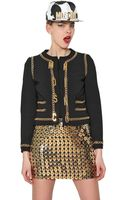 Moschino Chain Trim On Techno Crepe Jacket - Lyst