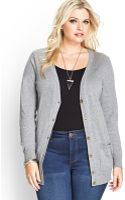 Forever 21 Fitted V-Neck Cardigan - Lyst