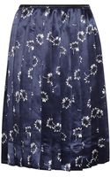 Marc Jacobs Daisy-Print Satin Skirt - Lyst