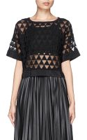 Elizabeth And James Gilroy Geometric Dot Embroidery Top - Lyst