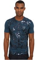 Versace Tone-on-tone Foil Print Tee - Lyst