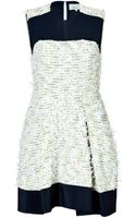 3.1 Phillip Lim Eyelash Tweed Short Sleeve Color Block Dress - Lyst
