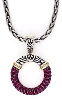 Effy Sterling Silver 18 Kt Yellow Gold Ruby Pendant - Lyst