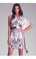 Bebe One Shoulder Drape Dress - Lyst
