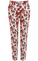 Oasis Painted Rose Trouser - Lyst