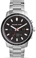 Michael Kors Mens Silvertone Granger Anadigital Watch 45mm - Lyst