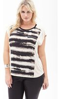 Forever 21 Abstract Stripe Top - Lyst