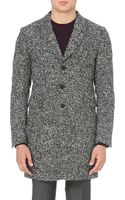 PS by Paul Smith Singlebreasted Woolblend Overcoat Black - Lyst