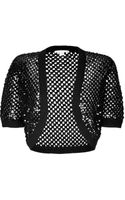 Michael Kors Cashmere Open Knit Bolero with Sequin Embellishment - Lyst
