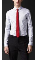 Burberry Slim Fit Cotton Shirt - Lyst