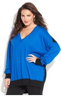 Michael Kors Michael Plus Size Longsleeve Colorblock Sweater - Lyst