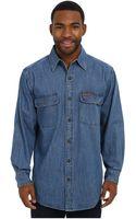 Carhartt Washed Denim Work Shirt - Lyst