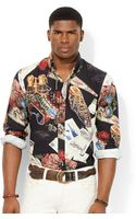 Polo Ralph Lauren Ski-print Broadcloth Shirt - Lyst
