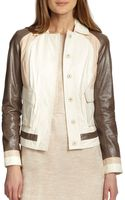 Tory Burch Deena Mixed Leather Jacket - Lyst