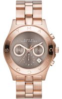 Marc By Marc Jacobs Womens Chronograph Blade Rose Goldtone Stainless Steel Bracelet Watch 40mm - Lyst