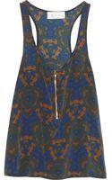 A.L.C. Printed Silk Tank - Lyst