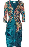 Matthew Williamson Winter Garden Printed Stretch Jersey Dress - Lyst