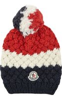 Moncler Basketweave Knit Beanie - Lyst