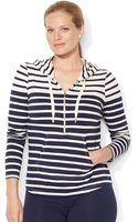 Lauren by Ralph Lauren Plus Multistriped Halfzip Sweater - Lyst