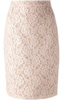 Lanvin Lace Pencil Skirt - Lyst