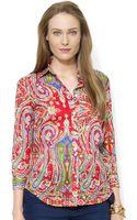 Lauren by Ralph Lauren Paisley Cotton Shirt - Lyst