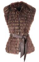 Hockley Celine Layered Fur Gilet - Lyst