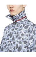 Yohji Yamamoto Striped Camouflage Cotton Poplin Shirt - Lyst