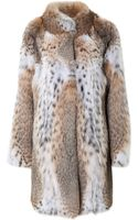Lilly E Violetta Lynx and Bobcat Fur Coat - Lyst