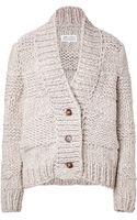 Maison Martin Margiela Hand Knit Alpaca Blend Cardigan - Lyst