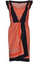 Alberta Ferretti Knee Length Dress - Lyst