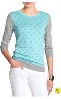 Banana Republic Three Quarter Sleeve Polka Dot Sweater  - Lyst