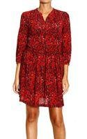 M Missoni Dress Sleeve 3/4 Silk Print Fantasy - Lyst