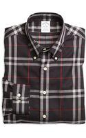 Brooks Brothers Non-iron Slim Fit Windowpane Sport Shirt - Lyst