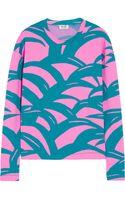 Kenzo Printed Stretch-scuba Jersey Sweatshirt - Lyst