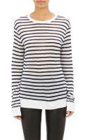 T By Alexander Wang Stripe Long Sleeve T-Shirt - Lyst