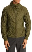 C P Company Wave Quilted Hooded Green Jacket - Lyst