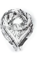 McQ by Alexander McQueen Comic Print Scarf - Lyst