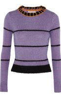 Roksanda Ilincic Laurie Cropped Striped Knitted Sweater - Lyst