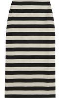 Burberry Prorsum Striped Satinjersey Pencil Skirt - Lyst