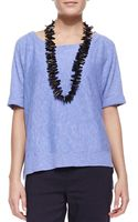 Eileen Fisher Boxy Highlow Top Plume - Lyst