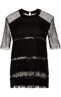Marco De Vincenzo Encrusted and Multi Embroidered Short Sleeve Top - Lyst