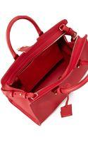 Saint Laurent Y Ligne Cuir Gras Mini Bag Red - Lyst