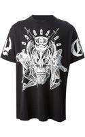 Givenchy Skull Guns Print Tshirt - Lyst