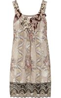 Anna Sui Embellished Jacquard Dress - Lyst