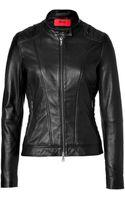 Hugo Lowise Leather Biker Jacket - Lyst
