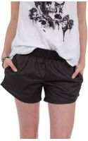 Monrow Leather Shorts - Lyst