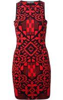 Alexander McQueen Printed Dress - Lyst